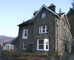 view of the bed and breakfast in betws-y-coed snowdonia