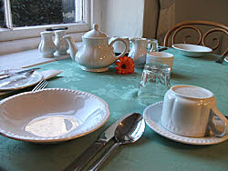 breakfast room at bryn llewelyn guest house